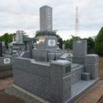 茨城県龍ケ崎市の共同墓地での墓石工事